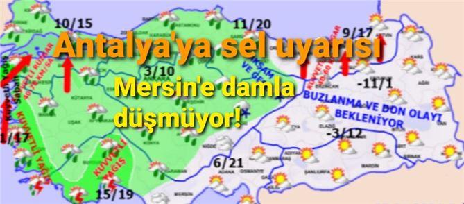 Antalya için sel uyarısı yapıldı!