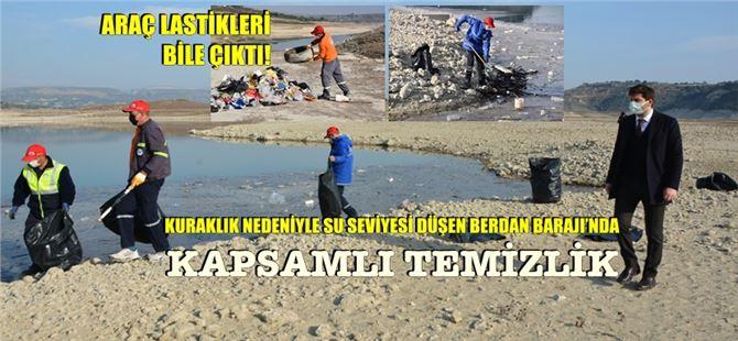 Büyükşehir'den Tarsus Berdan Barajı'nda temizlik çalışması