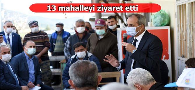 Başkan Haluk Bozdoğan, 13 mahallede vatandaşlarla bir araya geldi