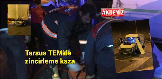 Tarsus'ta yağışlı havada kaza: 2 yaralı