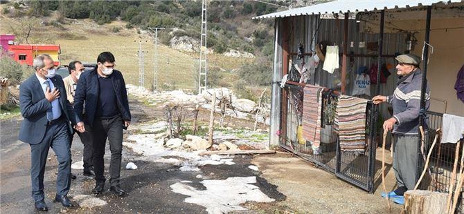 Başkan Bozdoğan dolunun bölgeye verdiği zararı yerinde inceledi