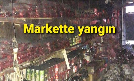 Tarsus'ta markette çıkan yangın korku yarattı