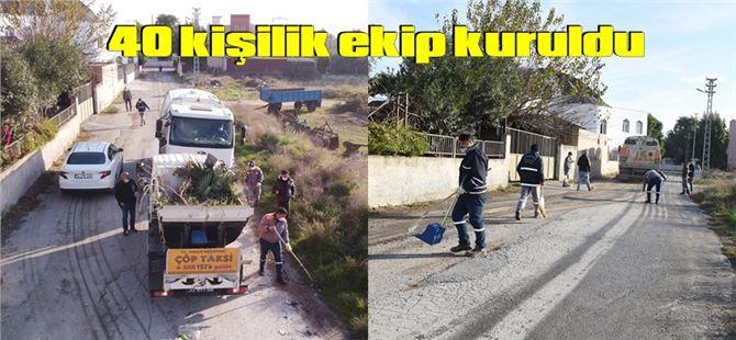 Tarsus Belediyesi 40 kişilik ekiple temizlik çalışması başlattı