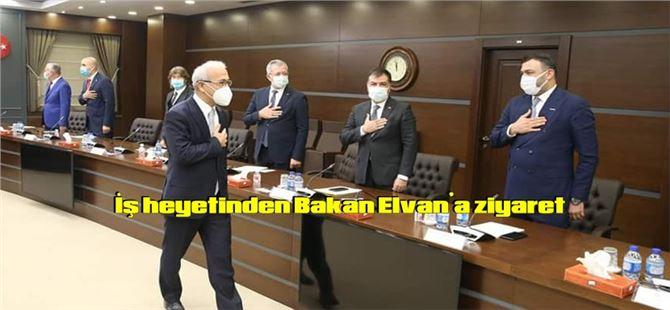İş heyetinden Bakan Lütfi Elvan'a ziyaret