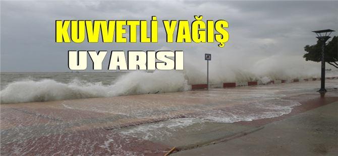 Mersin, Tarsus, Adana, Hatay ve Osmaniye için kuvvetli yağış uyarısı