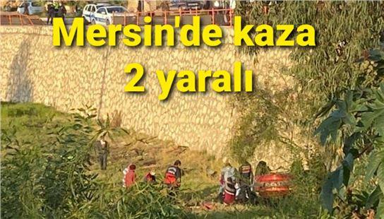 Mersin'de otomobil 12 metre derinlikteki boşluk alana düştü