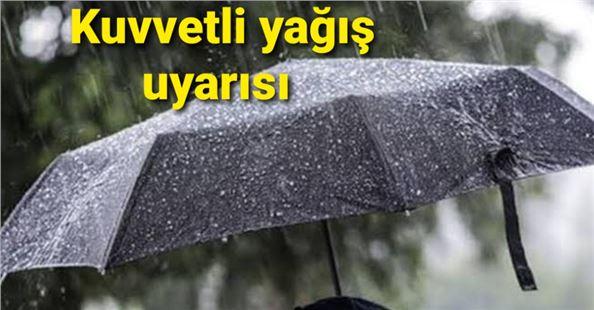 Batı Akdeniz için kuvvetli yağış uyarısı!