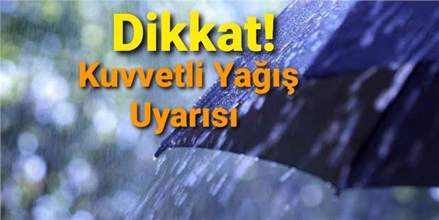 Meteorolojiden Tarsus ve Adana için kuvvetli yağış uyarısı