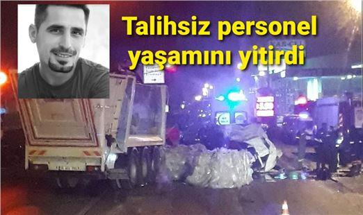 Mersin'de çöp kamyonu ile tır çarpıştı: 1 ölü