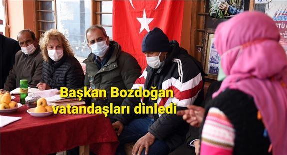 Başkan Bozdoğan,  39 kırsal mahalleyi ziyaret etti