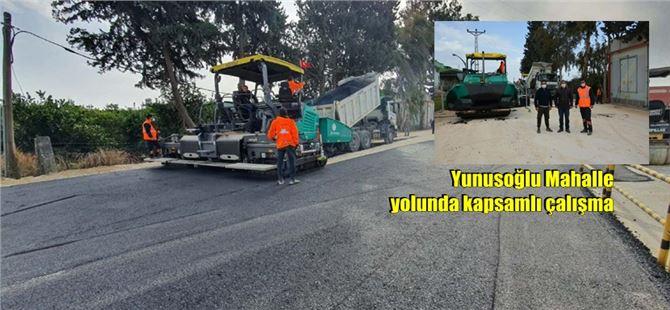 Büyükşehir, Tarsus'ta yol düzenleme ve asfalt çalışmalarına devam ediyor
