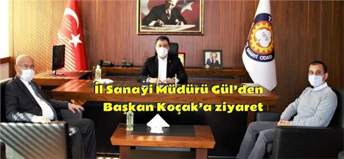 İl Sanayi Müdürü Gül'den Koçak'a ziyaret