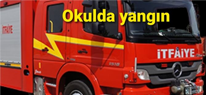 Mersin'deki okulda korkutan yangın