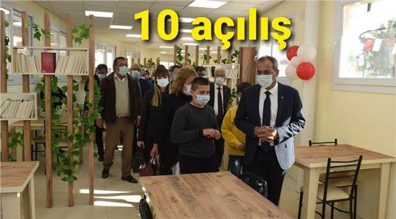 Tarsus Belediyesi iki günde 10 açılış gerçekleştirdi