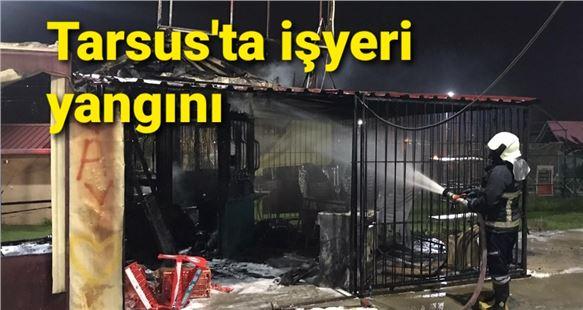 Tarsus'ta bir işlerinde yangın