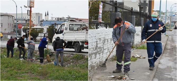 Tarsus Belediyesi temizlik işleri ekipleri bahar temizliğine başladı