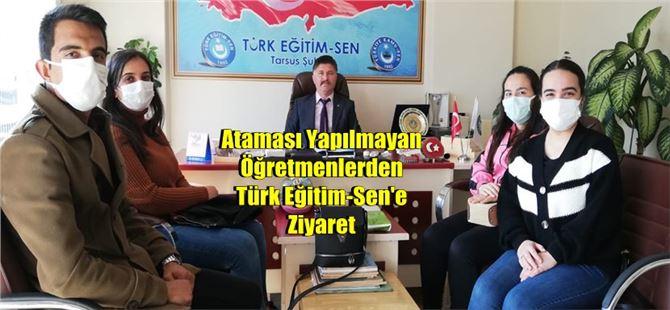 Ataması Yapılmayan Öğretmenlerden Türk Eğitim-Sen'e Ziyaret