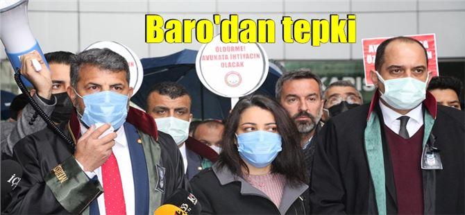 Mersin Barosu, avukatlara yönelik artan şiddeti protesto etti