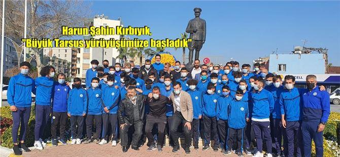 Tarsus İdmanyurdu'ndan Atatürk anıtına çelenk