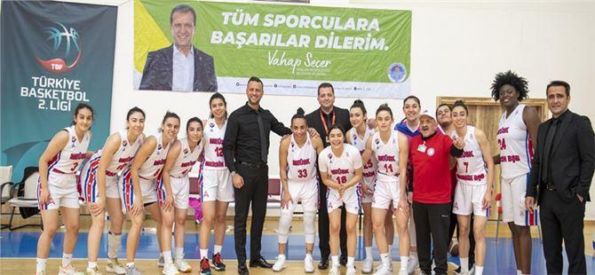 GSK Kadın Basket Takımı, Karşıyaka Çarşı Koleji'ni 78-71 Yendi