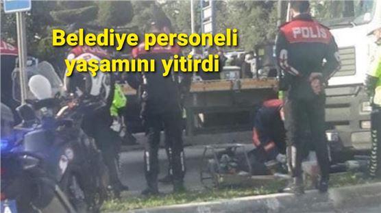 Mersin'de kaza, Belediye personeli yaşamını yitirdi