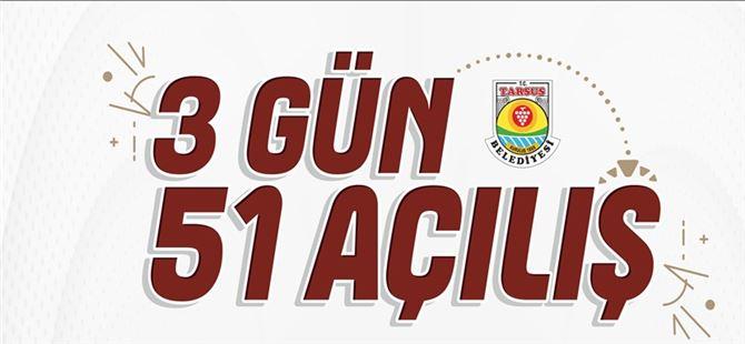 Tarsus Belediyesi 3 günde 51 hizmet ve projenin açılışını yapacak