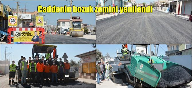 Fahrettinpaşa Mahallesinden geçen Cemal Gürsel Caddesi, Büyükşehir tarafından yenilendi