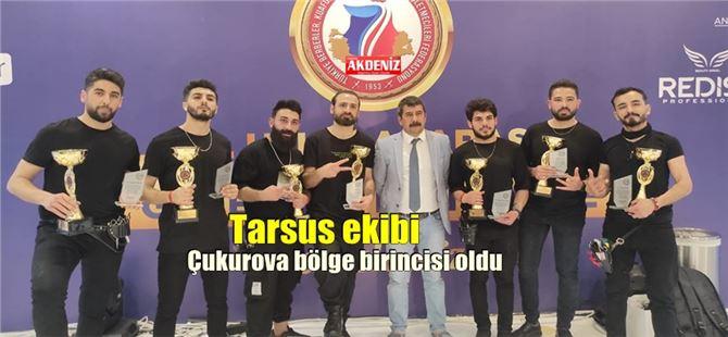 Tarsuslu genç berberlerden, Antalya'daki yarışmada büyük başarı