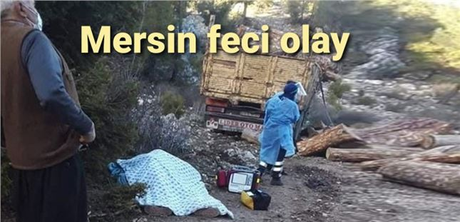 Mersin'de kamyon ile ağaç arasında sıkışan şoför öldü