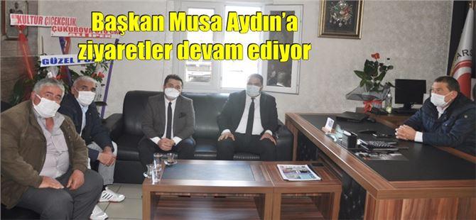 Başkan Musa Aydın'a ziyaretler devam ediyor