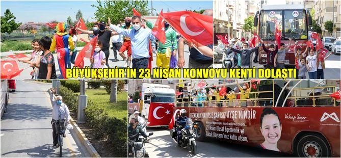 Mersin Büyükşehir, 23 Nisan coşkusunu sokaklara taşıdı