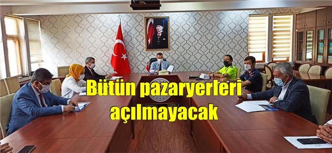 Tarsus'ta 8 – 15 Mayıs'ta açılacak pazaryerleri belirlendi