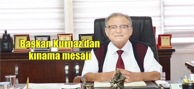 Başkan Ömer Kurnaz'dan, İsrail'e sert tepki