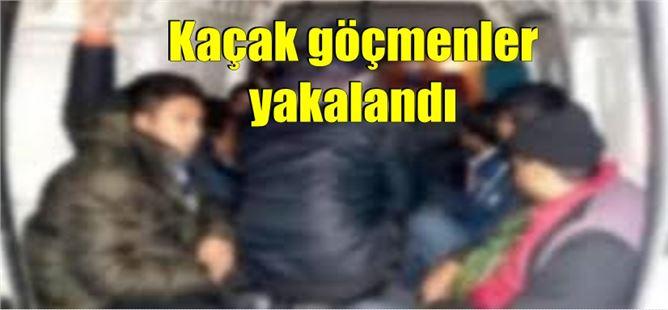 Tarsus'ta kaçak göçmenler yakalandı