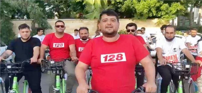CHP Mersin Gençlik Kolları, erken seçim için pedal çevirdiler