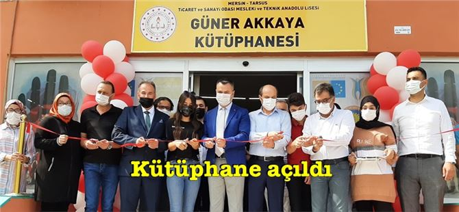 Tarsus TSO Mesleki ve Teknik Anadolu Lisesi'ne kütüphane açıldı