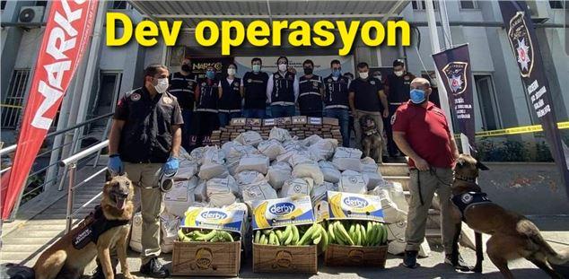 Türkiye'nin en büyü kokain operasyonu Mersin'de gerçekleştirildi