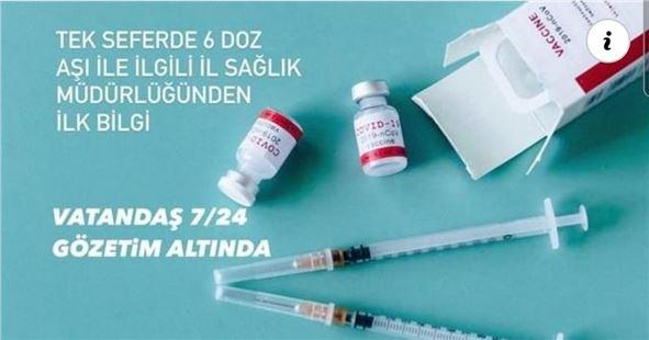 Tarsus'ta bir kişiye 6 doz aşı yapıldı