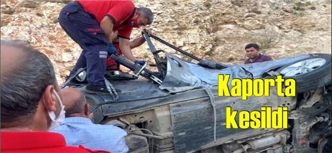 Mersin'de feci kaza; aracın içinde sıkıştı
