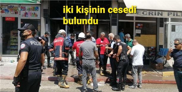 Mersin'de işyeri yangını: 2 kişi öldü