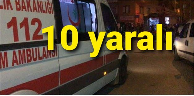 Tarsus'ta düğünde maganda dehşeti; 10 yaralı