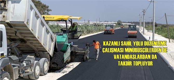 Büyükşehir, Kazanlı'da yol çalışmalarını sürdürüyor