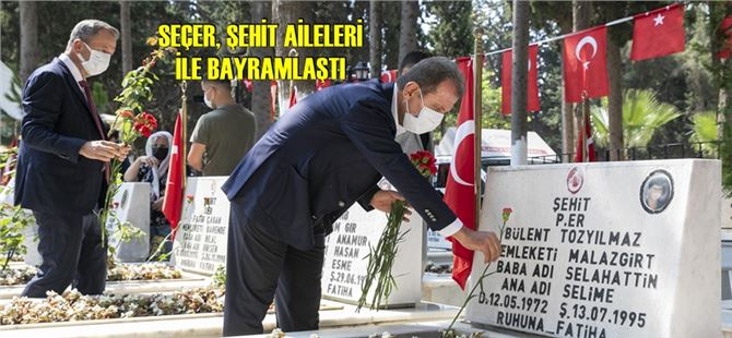 Başkan Seçer, bayram arifesinde şehitliği ziyaret etti