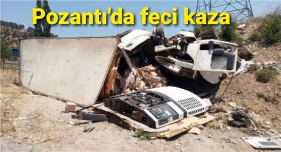 Pozantı'da feci kaza: 1 ölü, 6 yaralı