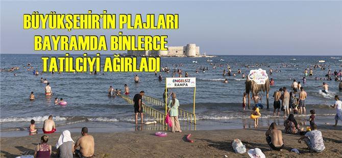 Mersin plajları bayramda cıvıl cıvıldı
