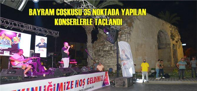 Büyükşehir'in konserleriyle karnaval havasında bir bayram yaşandı