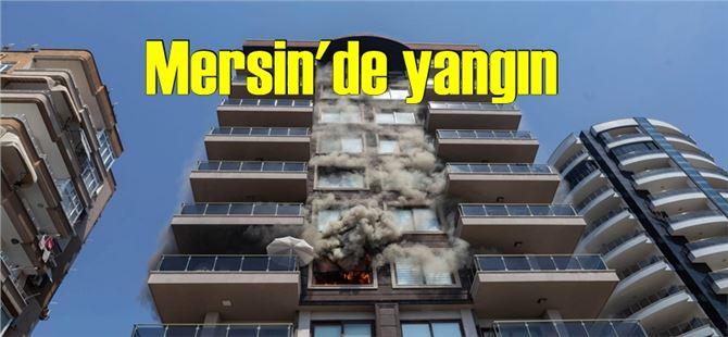 Mersin'de 4. katta korkutan yangın