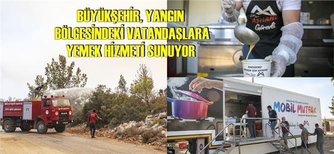 Mersin Büyükşehir, tüm ekipleri ile yangın bölgesinde seferber oldu