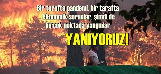 Bir tarafta pandemi, bir tarafta ekonomik sorunlar, şimdi de birçok noktada yangınlar