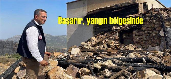 Ali Mahir Başarır, yangın bölgesinde